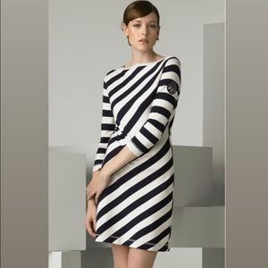 Tory Burch 'Noisetta' Diagonal Stripe Dress